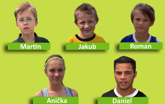 Successful children in a project Talent La Sophia – a category Football